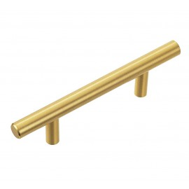 """P58078.GD Stainless Steel Gold Euro Style T Bar Cabinet Pull Handle Dia: 1/2""""(12mm)"""