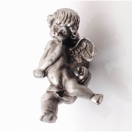 PP078 Novelty Handmade Solid Pewter Finely Sculpted Statuary Pull And Knob Of Angels Theme.