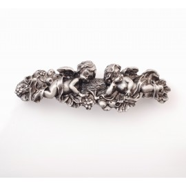 XP025 Novelty Handmade Solid Pewter Finely Sculpted Statuary Pull And Knob Of Angels Theme.