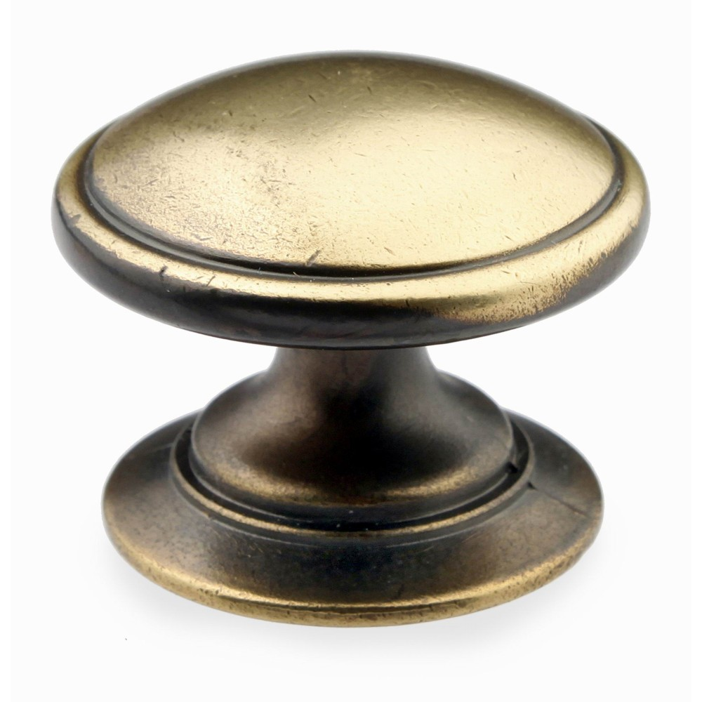 "N140046/35AEH 1-3/8"" inch (35mm) Beautiful Vintage Hand Rubbed Antique English Brass Kitchen Cabinet Knob Closet Wood Door Pull handle Cabinet Door Decorative Cabinet Hardware Home Decor Furniture Pull Drawer Knob Cupboard Pull"