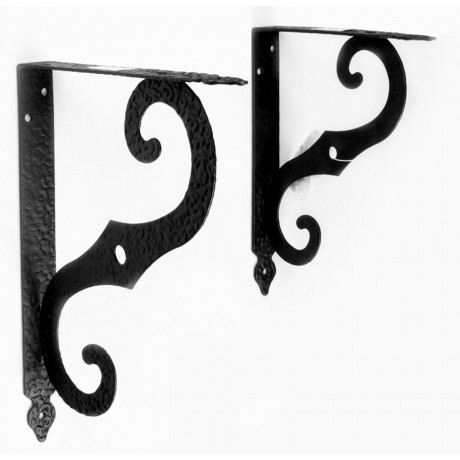 70019 Antique black steel shelf support Wall Mounting Bracket Frame Racks Wall Bookshelf