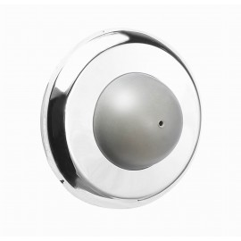 "D1016/63CP CHROME Wall Door Stopper with rubber bumper, Wall Mounted Door Bumper, CP Bright Chrome Finish Dia:2-1/2"" inch 64mm Decorative Door Hardware Builders Hardware quick install Home Hardware Home Decor"