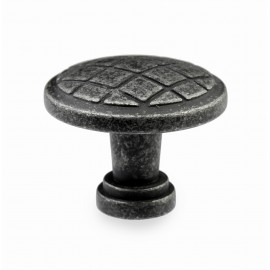 "N402/28IG 1-1/10""inch (28mm) Beautiful Vintage Weathered Iron Gray Kitchen Cabinet Knob Closet Wood Door Knob handle Cabinet Door Decorative Hardware Home Decor Furniture Pull Drawer Knob Cupboard Pull"