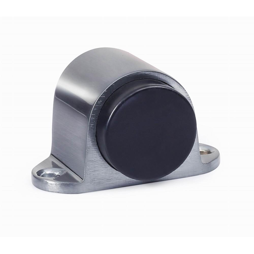 "D1010/30SC Floor Door Stopper with rubber bumper Height 1-1/4"" inch 30mm SC Satin Chrome Finish Decorative Door Hardware Builders Hardware quick install Home Hardware Home Decor"