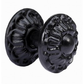 D4001/BLK Antique Ironwork Black Door Knob Antique weathered Black Iron Door Handle Door Pull Hand forged Beautiful Vintage Decorative Hardware Home Decor Rustic Wild West Style French Design Old World arts crafts creations hand made Antique Door