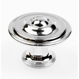 "N88151/34CP 1-3/8"" inch (34mm) CP Finish Chrome Plated Shining Bright post-modern design style Kitchen Cabinet Knob Handle Closet Wood Door Knob Cabinet Door Decoration Hardware Home Decor Furniture Handle Knob Drawer Knob Cupboard Knob"