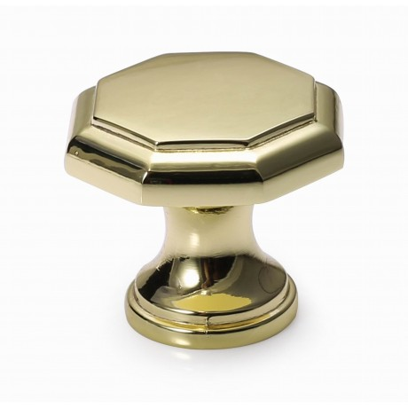 "N88682/30BP 1-1/4"" inch (30mm) Bright Brass Plated Style Kitchen Cabinet Knob Handle Closet Wood Door Knob Cabinet Door Decoration Hardware Home Decor Furniture Handle Knob Drawer Knob Cupboard Knob"