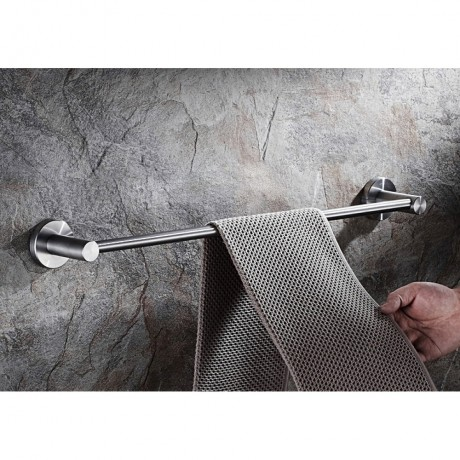 """BSS70624 24"""" Inch, Bathroom Towel Single Bar Holder, Towel Rail Holder Wall Mount, Stainless Steel Brushed Finish."""