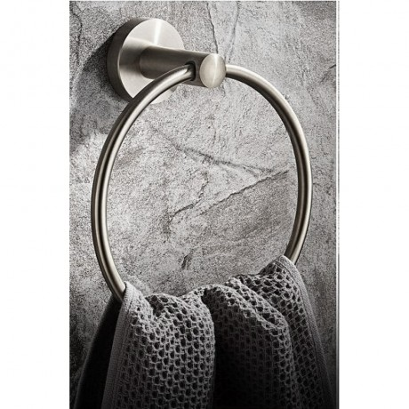 BSS70661, Bathroom Towel Ring Bar Towel Holder, Stainless Steel Brushed Finish