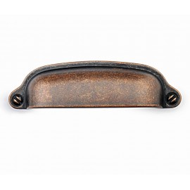 "P8S001/76AC 3"" inch (76mm) Beautiful Vintage Antique Copper Kitchen Cabinet Pull Handle Closet Wood Door Pull handle Cabinet Door Decorative Hardware Home Decor Cabinet Furniture Pull Drawer Handle Cupboard Pull"