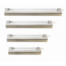 """P58587.SS Stainless Steel Euro Style  Square Bar Pull Handle Dia:1/2""""X1/2""""(12X12mm)"""
