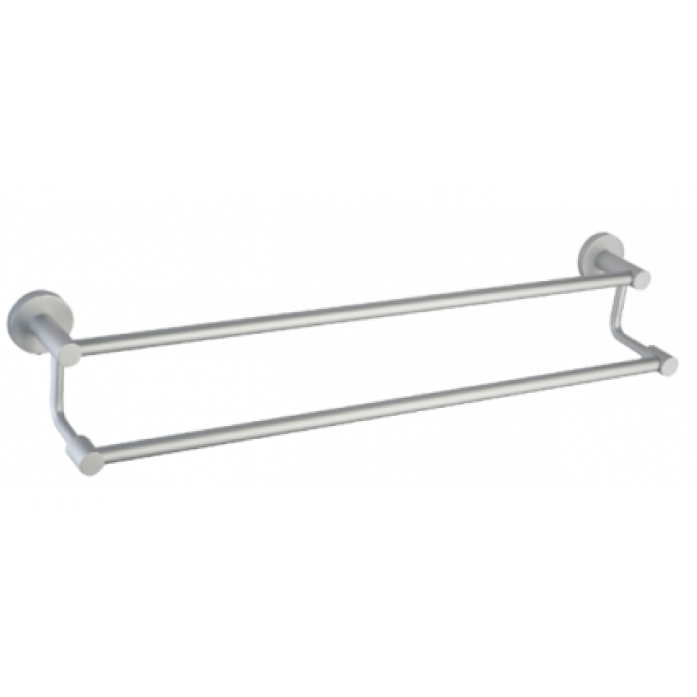 "B3002/60SC 24"" inch (60cm) Bathroom Wall Mount Double Towel Bar Towel Rail Holder, Aluminium Satin Chrome Mat Color Decorative Bathroom Hardware Accessory Set With Modern contemporary Stylish Design"