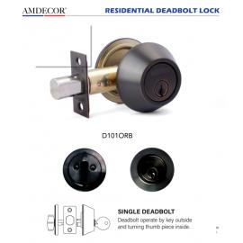Amdecor D101ORB Door Lock, Decorative Door Hardware Builders Hardware Quick Install Home Hardware Home Decor