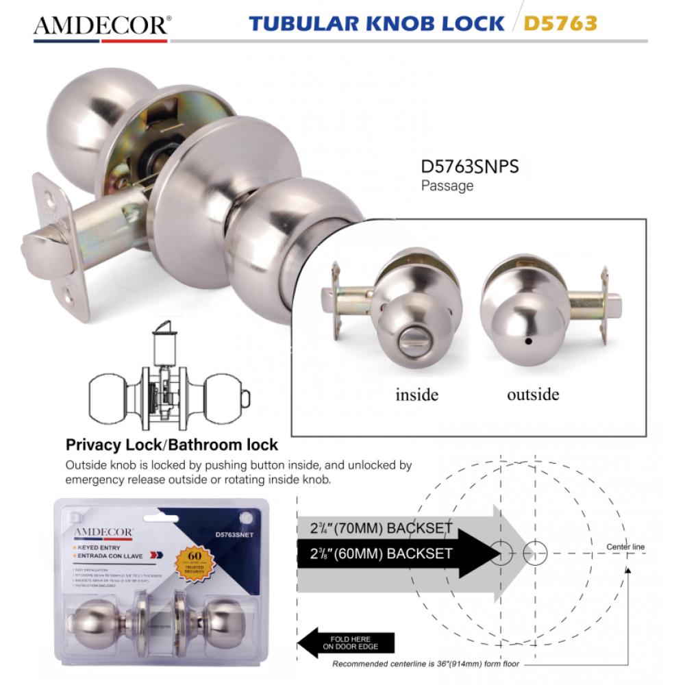 D5763SNPS Door Lock, Decorative Door Hardware Builders Hardware Quick Install Home Hardware Home Decor