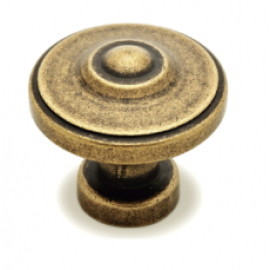"N88622/33AE 1-1/3"" inch (33mm) Beautiful Vintage Antique English Brass Finish Kitchen Cabinet Knob Handle Closet Wood Door Knob Cabinet Door Decorative Hardware Home Decor Cabinet Furniture Knob Pull Drawer Handle Cupboard Pull Knob"