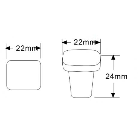 "4/5""(22MM) N88477/22BLK Flat Black Finish Powder Coated Euro Design Modern Style Kitchen Cabinet Knob Handle Closet Wood Door Pull Knob Cabinet Door Decorative Hardware Home Decor Cabinet Furniture Knob Drawer Knob Cupboard Knob"