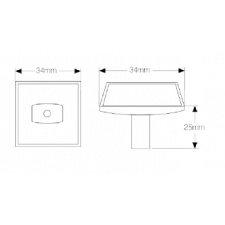 "N81006/34CP 1-3/8"" inch (34mm) Silver Star-Shining Glitter Knob Sparkle Handle Euro Fashion Design Modern Style Kitchen Cabinet Knob pull Closet Wood Door Knob Cabinet Door Decoration Hardware Home Decor Furniture Handle Knob Drawer Knob"