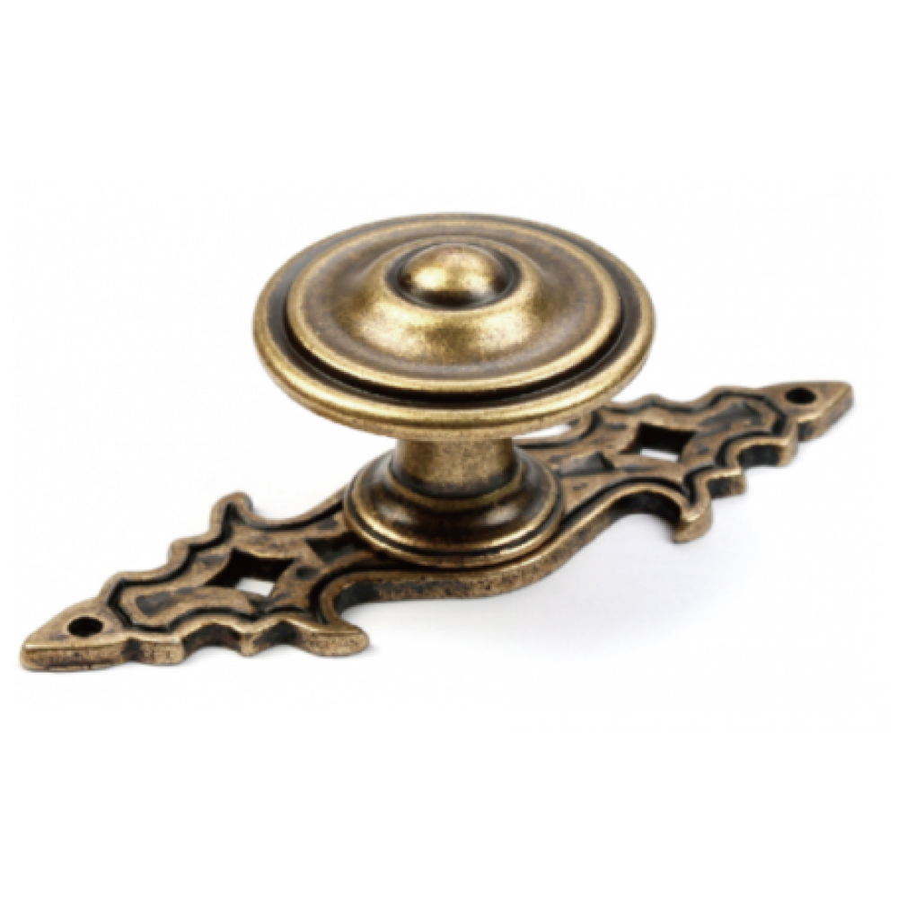 "N88152/34AE 1-3/8"" inch (34mm) Beautiful Vintage Antique English Brass Finish Kitchen Cabinet Pull Handle Closet Wood Door Pull handle Cabinet Door Decorative Hardware Home Decor Cabinet Furniture Pull Drawer Handle Cupboard Pull"